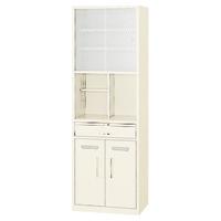 食器棚 幅600×奥行400×高さ1790mm アイボリー | オフィス用食器棚